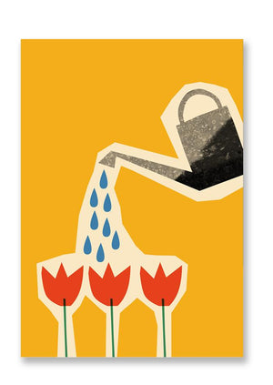 Postcard Tulips & Watering Can