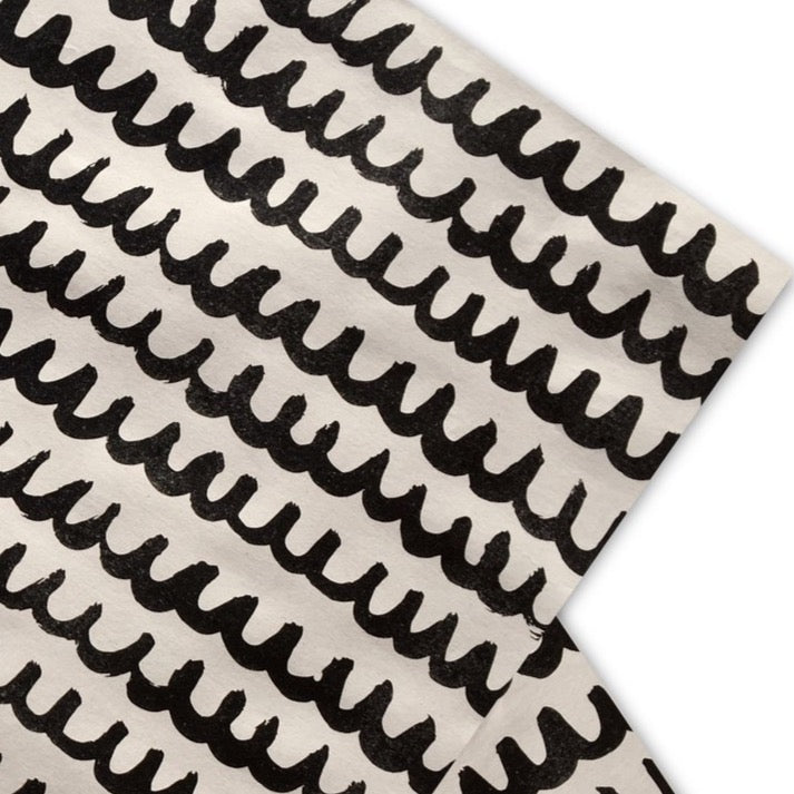 Gift Wrap Paper Black Wave