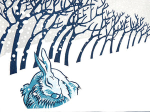 Card Winter Hare