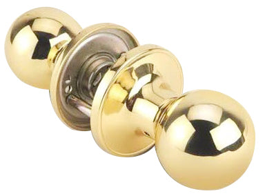 PASSAGE LOCK (BALL KNOB) POLISHED BRASS