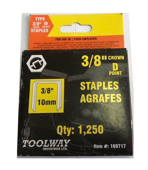 T-50 3/8'' CROWN D POINT STAPLES