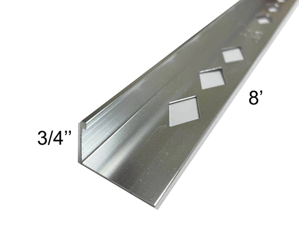 3/4''*8' METAL L-CHANNEL CHROME