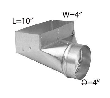 4''*10''*4'' GALVANIZED ANGLE BOOT