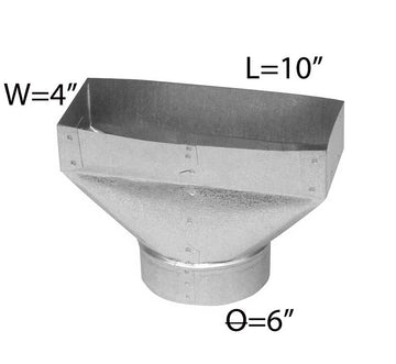 4''*10''*6'' GALVANIZED UNIVERSAL BOOT