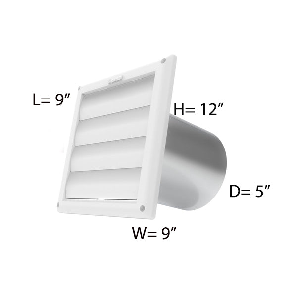 5'' VENT HOOD WITH WHITE CAP