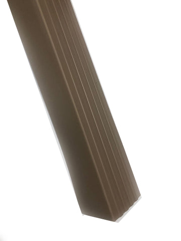 RUBBER STAIR NOSING BROWN 2'' * 2'' * 12'