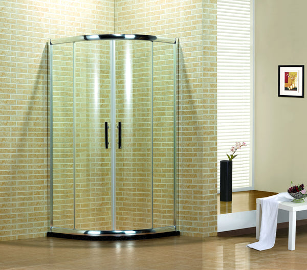 Q100-39''*39'' SHOWER GLASS SET (ROUND)