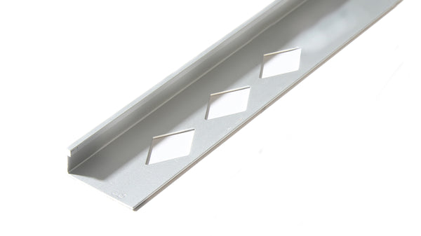 3/8''*8' METAL L-CHANNEL SATIN SILVER