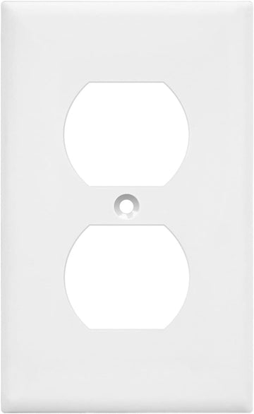 SINGLE GANG DUPLEX RECEPTACLE PLATE