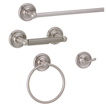 INFINITY BATHROOM ACCESSORIES-SET OF 4 SATIN NICKEL