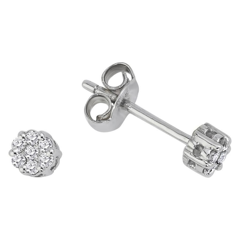 0.25 Carat Appearance Diamond Solitaire  Stud Earrings