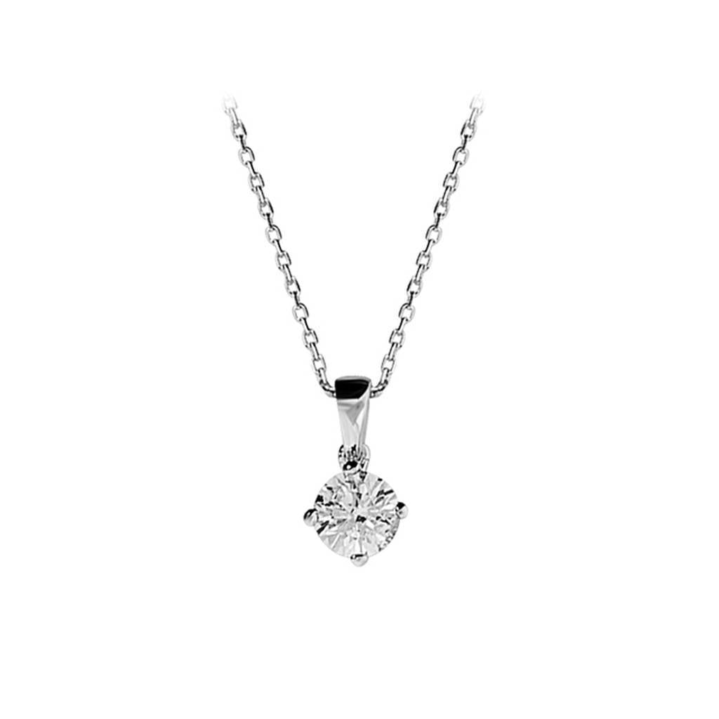 0.47 Carat Diamond Solitaire Necklace