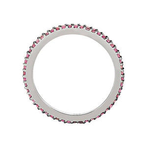 Ruby Stone Slim Eternity Wedding Ring