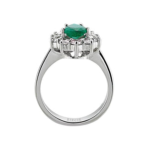 Emerald Stone Diamond Ring