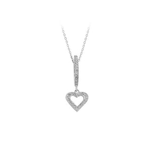 Heart Diamond Stone Drop Necklace