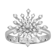 Load image into Gallery viewer, Diamond Snowflake Ring