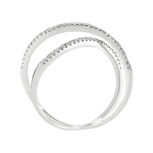 Diamond Stone Double Lined Ring