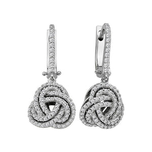 Diamond Eterl Spiral Drop Earrings