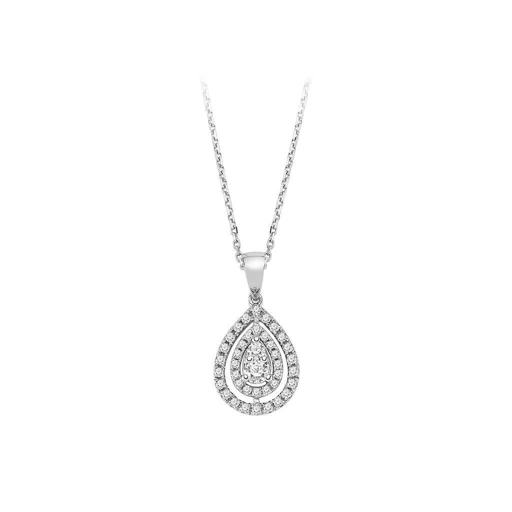 Diamond Drop Shape Necklace