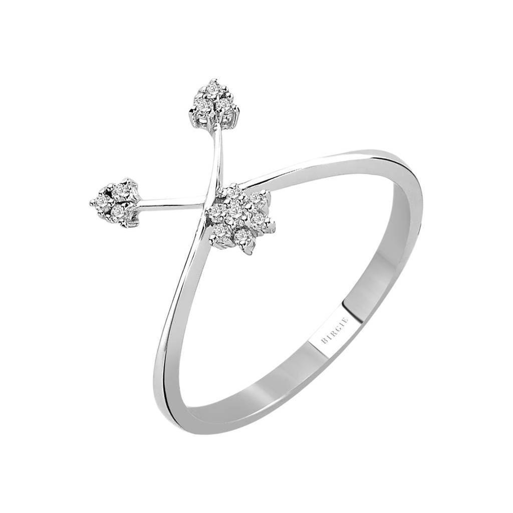 Snowdrop Shape Diamond Ring