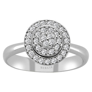 Diamond Channel Design Fashioble Ring