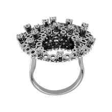 Load image into Gallery viewer, Diamond Crescent Design Ring