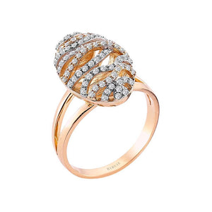 Diamond Silk Cocoon Design Ring