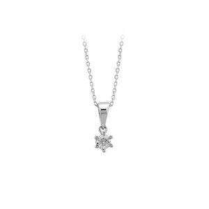 0.13 Carat Diamond Solitaire Necklace