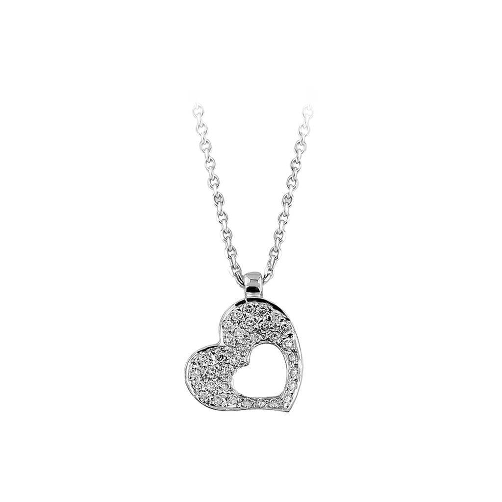 Nested Diamond Hearts Necklace