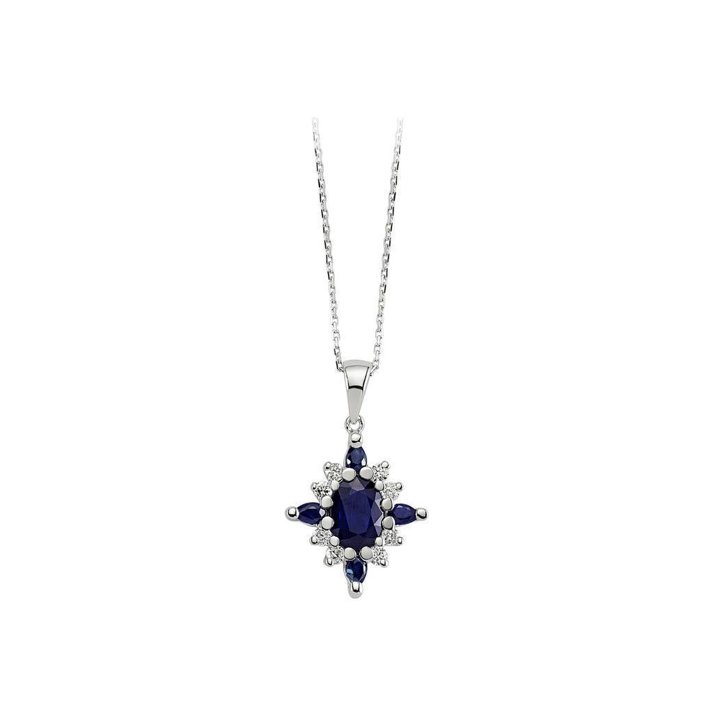 Sapphire and Diamond Stone Necklace