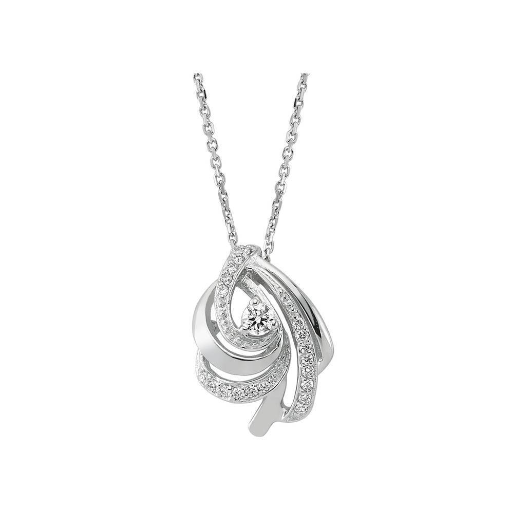 Diamond Stone Oyster Necklace