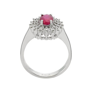 Ruby Stone Diamond Ring