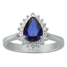 Load image into Gallery viewer, Diamond and Drop Sapphire Stone Ring