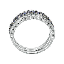 Load image into Gallery viewer, Diamond and Sapphire Stone 3 Piece Ring