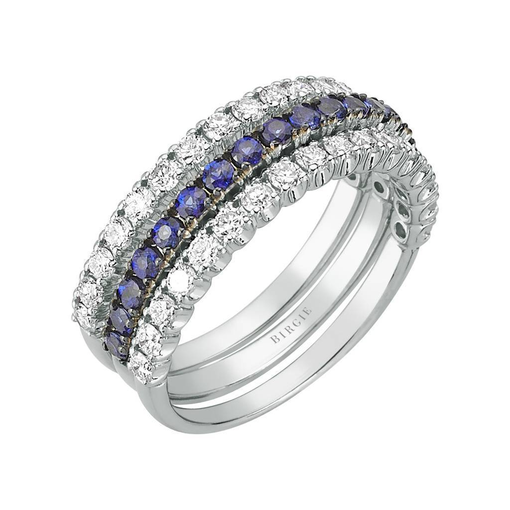 Diamond and Sapphire Stone 3 Piece Ring