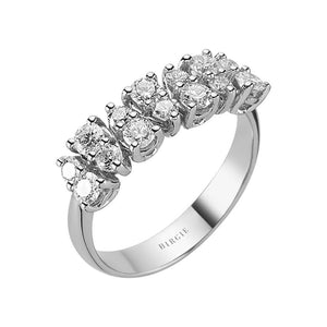 Double Lined Diamond Ring