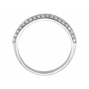Diamond Triple Line Half Band Eternity Ring