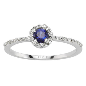 Sapphire and Diamond Stone Ring
