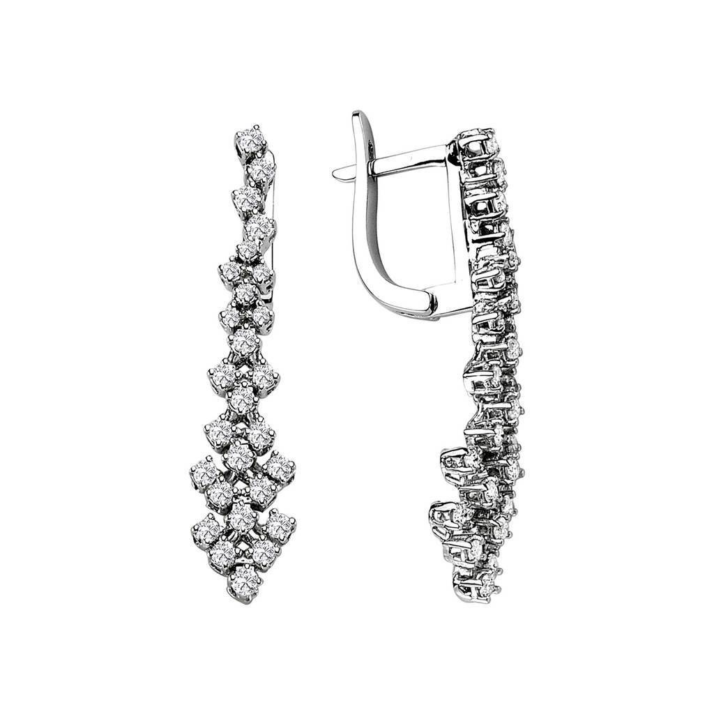 Diamond Light Path Drop Earrings