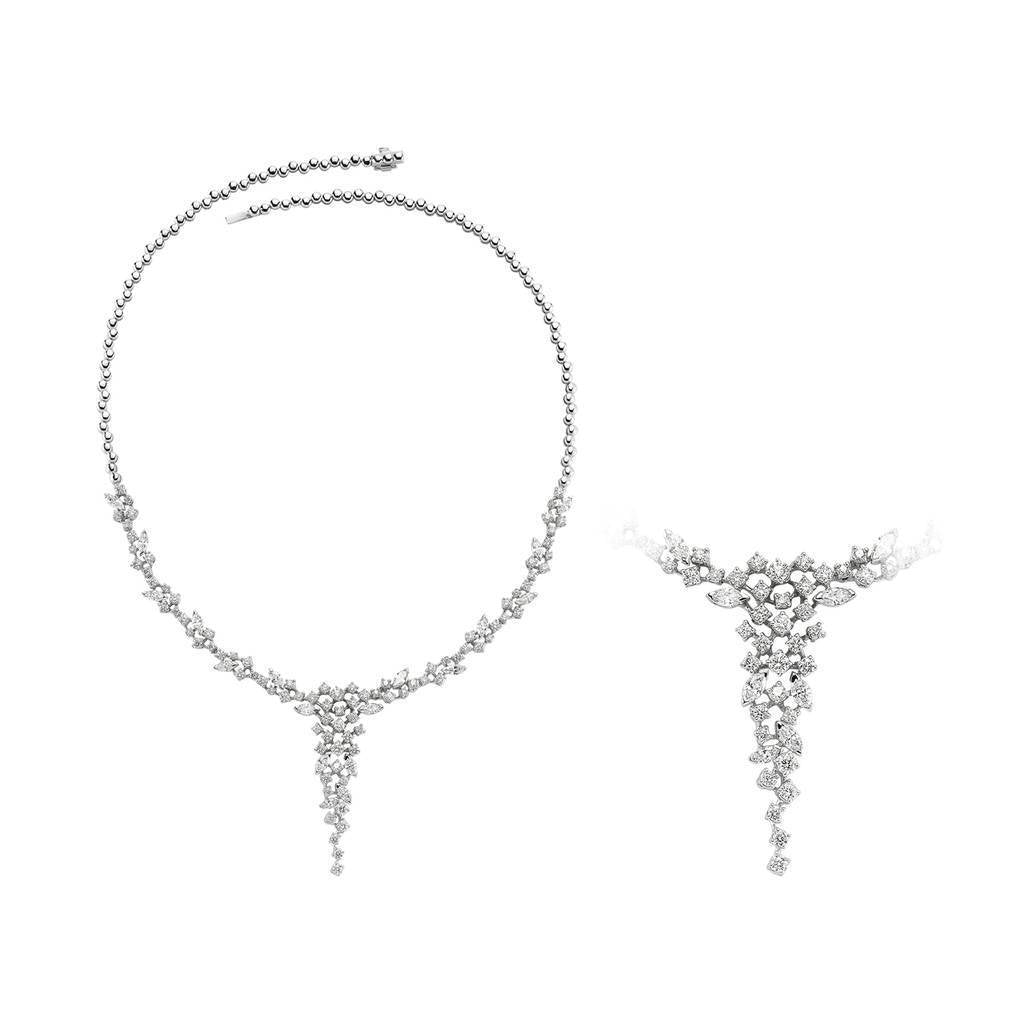 Marquise and Brilliant Cut Diamond Exclusive Necklace