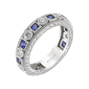 Diamond and Sapphire Stone Eternity Ring