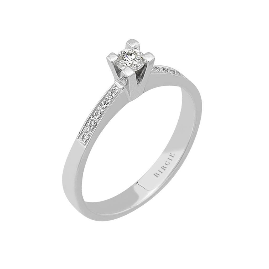 Total 0.20 Carat Diamond Halo Engagement Ring