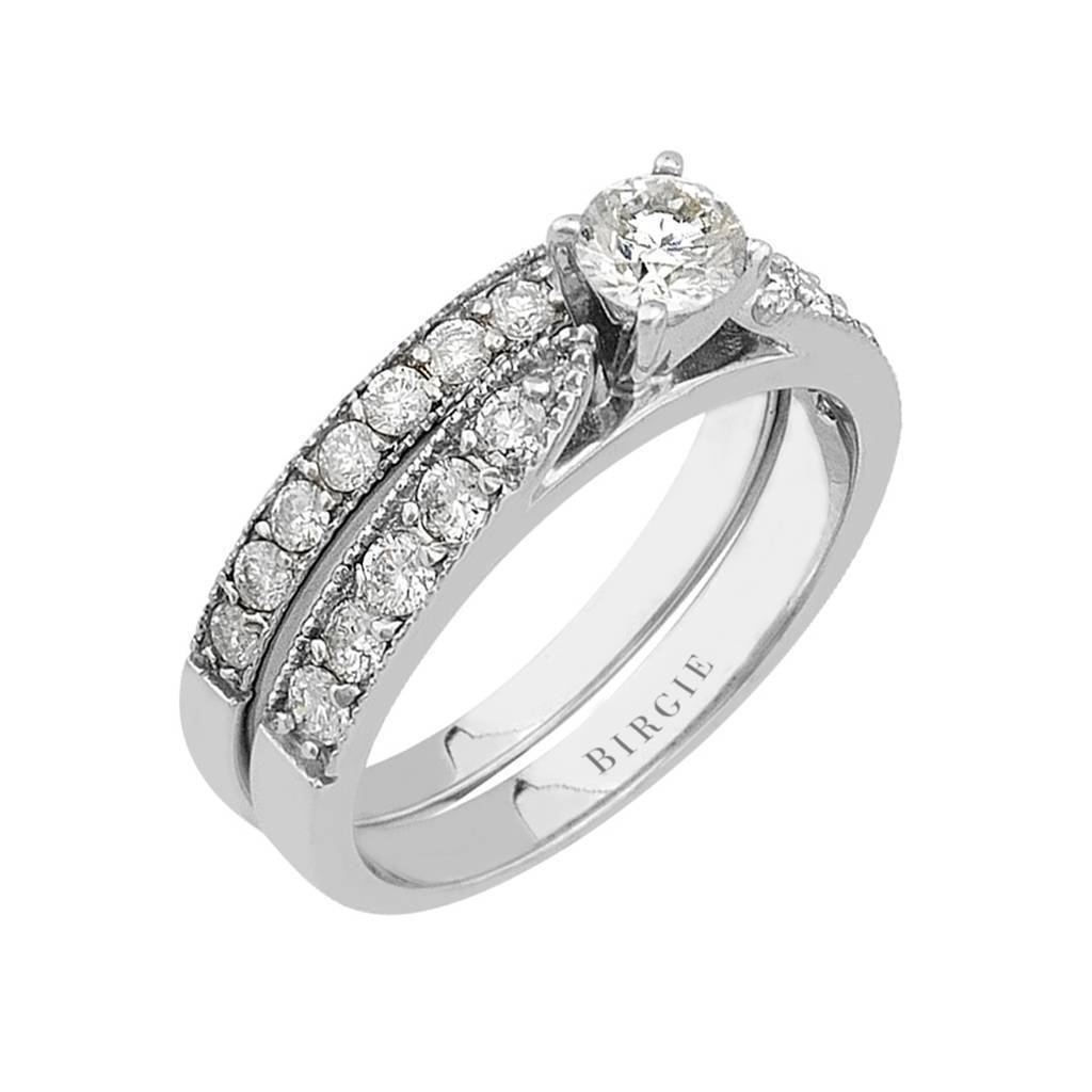 Diamond Solitaire Engagement Ring & Matching Band (1.17ct. TW)