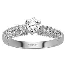 Load image into Gallery viewer, Total 0.60 Carat Diamond Halo Engagement Ring