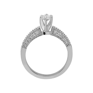 Total 0.60 Carat Diamond Halo Engagement Ring