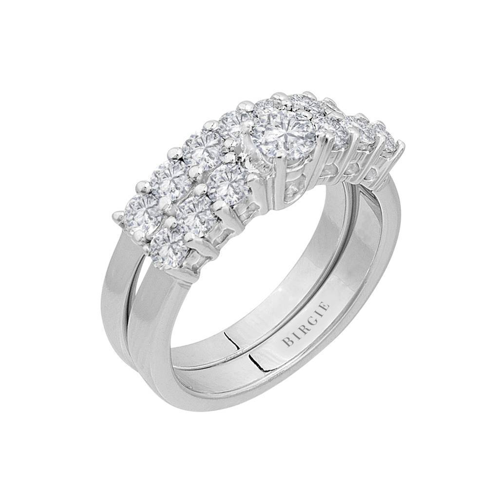 Total 1.56 Carat Diamond Solitaire Ring Wedding Band