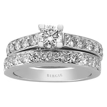 Load image into Gallery viewer, Diamond Solitaire Engagement Ring & Matching Band (1.19ct. TW)