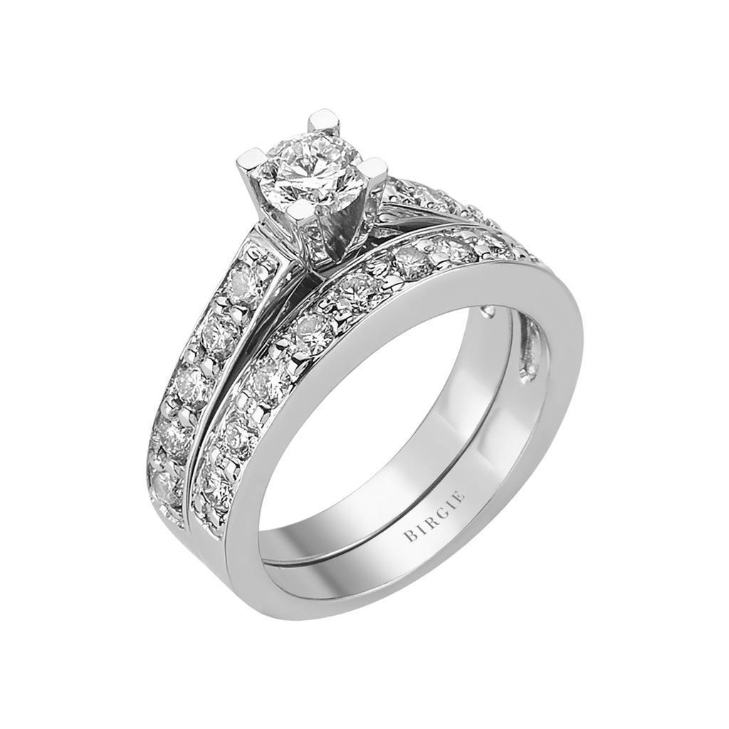 Diamond Solitaire Engagement Ring & Matching Band (1.19ct. TW)