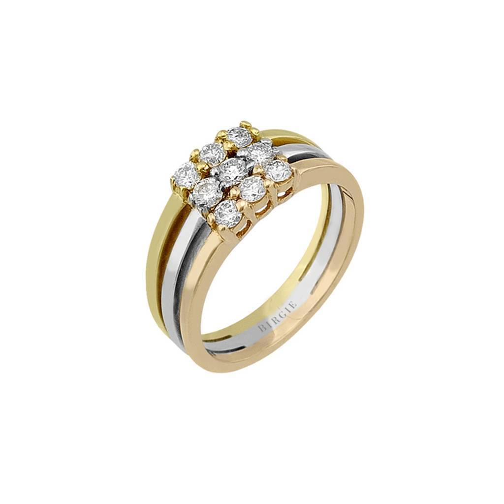 Diamond Stone Harem Ring