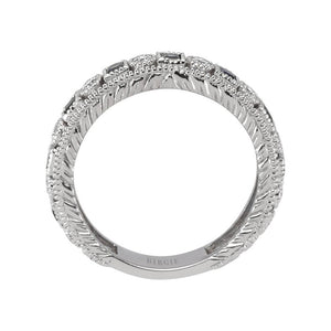 Diamond Sapphire Eternity Wedding Ring